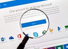 Microsoft mail login. Stock Photography