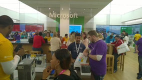 Microsoft ocupado armazena fotografia de stock royalty free