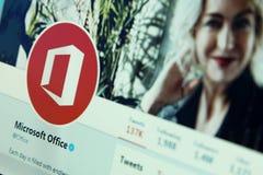 Microsoft Office świergotu konto zdjęcia stock