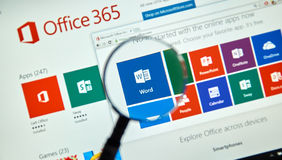 Microsoft Office 365 fotografia stock