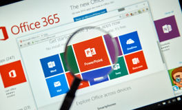 Microsoft Office 365 Photographie stock