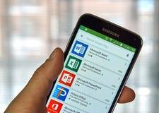 Microsoft Office app Stock Photography