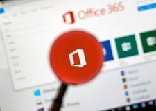 Microsoft Office application. Royalty Free Stock Photography