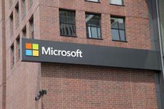Microsoft office building. At MIT university, Boston Mass USA stock photos
