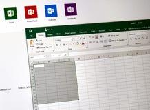 Microsoft Office 2019 Excel fotografia stock