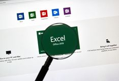 MIcrosoft Office Excel royalty free stock photos