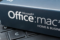 Microsoft Office for Mac Software Stock Image