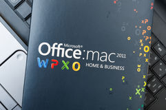 Microsoft Office for Mac Software Royalty Free Stock Images
