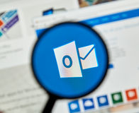 Microsoft Office Outlook. Royalty Free Stock Photography