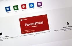 Microsoft Office Powerpoint fotografia stock