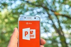 Microsoft Office PowerPoint app Stock Photo
