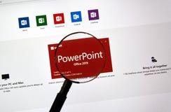 MIcrosoft Office PowerPoint stock photo