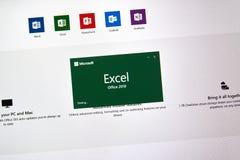 Microsoft Office przoduje obraz stock