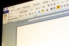 Microsoft Office słowa zastosowania menu fotografia royalty free