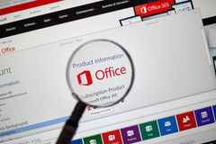 Microsoft Office słowo, Excel Obrazy Stock