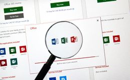MIcrosoft Office 365 subscribtion card royalty free stock photos
