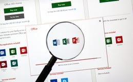 Microsoft Office 365 subscribtion karta zdjęcia royalty free