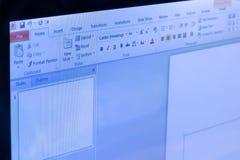 Microsoft Office władzy punktu podaniowy menu 2 obraz royalty free