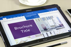 Microsoft Office Word app on Samsung tablet Royalty Free Stock Images