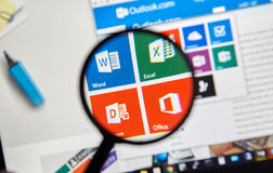 Microsoft Office Word, Excel Photos libres de droits