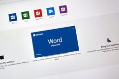 MIcrosoft Office Word stock image