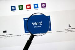 MIcrosoft Office Word royalty free stock image