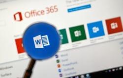 Microsoft Office zastosowanie obraz stock