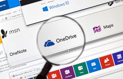 Microsoft One Note online. Stock Photo