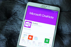 Microsoft OneNote app Στοκ φωτογραφίες με δικαίωμα ελεύθερης χρήσης