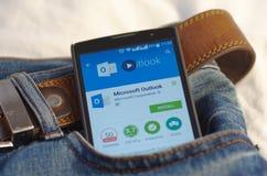 Microsoft Outlook fotos de stock royalty free