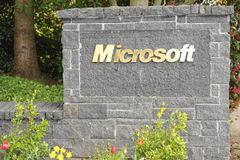 Microsoft Pisać list Obraz Stock
