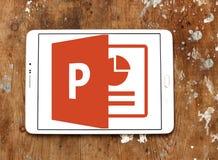 Microsoft powerpoint logo arkivbild