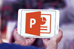 Microsoft powerpoint logo royaltyfri foto