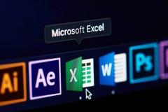 Microsoft przoduje ikonę na ekranie fotografia royalty free