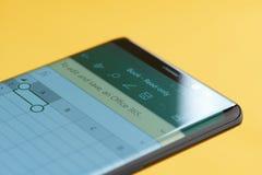 Microsoft przoduje menu na smartphone ekranie obraz royalty free