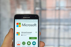 Microsoft rendent compte application mobile Photos libres de droits