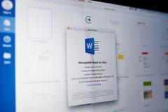Microsoft słowa menu zdjęcia stock