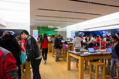 Microsoft Store on Black Friday 2014. Microsoft store filled with customers on black friday, 2014 Stock Photos