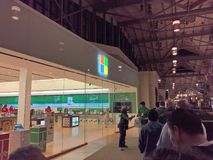 Microsoft Store, Black Friday on Thanksgiving 2017 stock photography