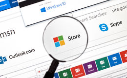 Microsoft store online. Stock Image