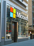 Microsoft Store. On 8th Avenue in Manhattan,NYC Royalty Free Stock Photo