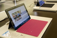 Microsoft Surface in Microsoft Store Stock Photography