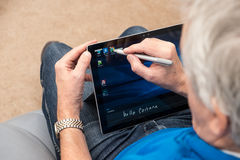 Microsoft Surface Pro 4 with stylus and keyboard Stock Images