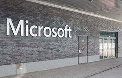 Microsoft Switzerland office entrance Stock Photography