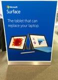 Microsoft tauchen in Speicherwerbungsanzeige auf Lizenzfreie Stockbilder