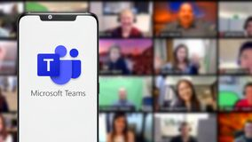 Free Microsoft Teams Is A Unified Communication Stock Photography - 198538552