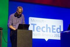 Microsoft TechEd konferens 2012 royaltyfria foton