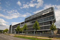 Microsoft Technology Center (MTC) in Cologne. A new modern building, in Cologne - Microsoft Deutschland GmbH Royalty Free Stock Photo