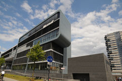 Microsoft Technology Center (MTC) in Cologne. A new modern building, in Cologne - Microsoft Deutschland GmbH Royalty Free Stock Photos