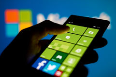 Microsoft telefona Immagini Stock Libere da Diritti